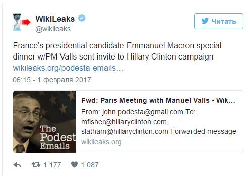 Macron wikileaks